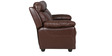 Lancaster Leather Two Seater Sofa in Dark Brown Colour by HomeTown