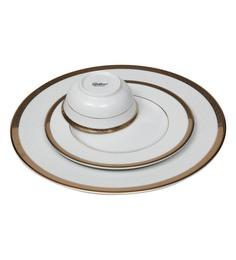 Lakline White and Gold Porcelain 18-piece Dinner Set