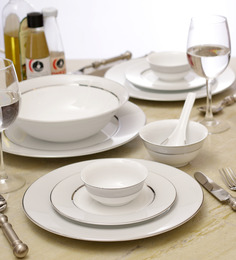 Lakline White Porcelain 33-piece Dinner Set