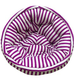 ORGANIC COTTON Kids Lap Pouffe in Purple & White by Reme