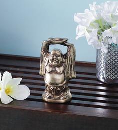 Handecor Brown Brass Laughing Buddha Showpiece