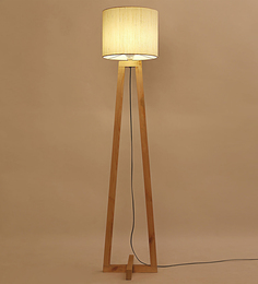 Lavish Khadi Iron & Fabric Floor Lamp