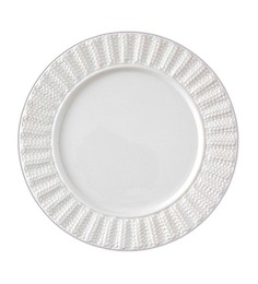 Lazzaro Dolcevita White Porcelain Plate - Set of 2
