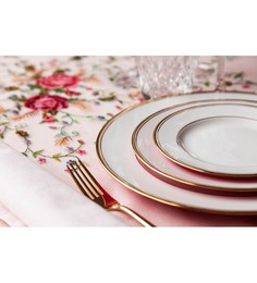 Lazzaro Regal Multicolour Bone China 21-piece Dinner Set
