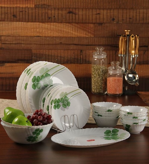 Rs.200 Off On Orders Above Rs.799 On La Opala Range By Pepperfry | La Opala Diva Dual Harmony Opalware Dinner Set - Set of 27 @ Rs.2,819