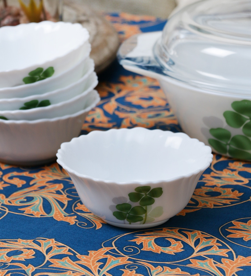 La Opala Diva Dual Harmony Opal Ware 110ML Veg Bowl - Set of 6  available at Pepperfry for Rs.429