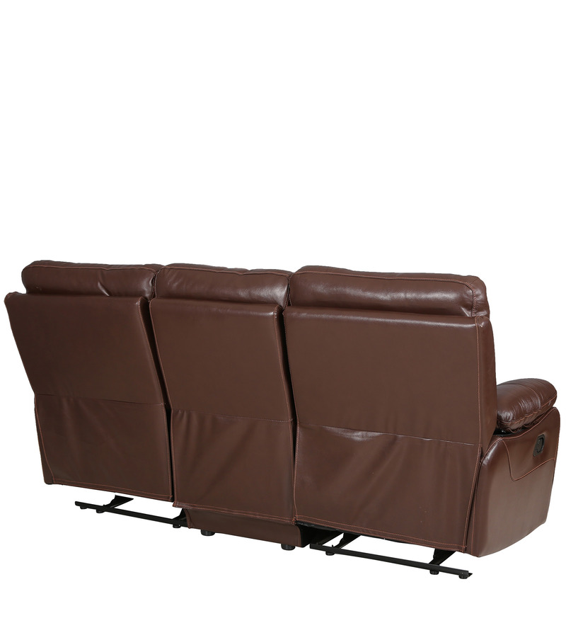Buy Lancaster Leather Three Seater Recliner in Dark Brown  : lancaster leather three seater sofa in dark brown colour by hometown lancaster leather three seater 3nnfvv from www.pepperfry.com size 800 x 880 jpeg 70kB