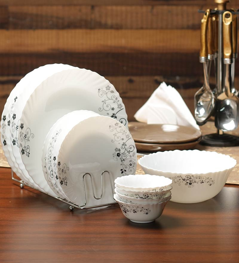 Buy La Opala Diva Opalware Dinner Set of 19 Online - Glass ...