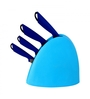 Lacuzini Stainless Steel and Blue Plastic Knife - Set of 5