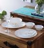 La Opala Citron Weave Opalware Dinner Set - Set of 19