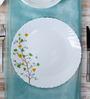 La Opal Diva Floral Magic White Opal Ware Dinner Plate Set of 6