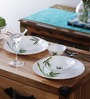 La Opala Green Bamboo Opalware Dinner Set - Set of 10