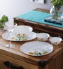 La Opala Tulip Passion Opalware 21-piece Dinner Set