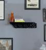 La Stella Rustic Black carved wall shelf