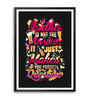 Lab No.4 - The Quotography Department Paper & PU Frame 11.9 x 16.7 Inch Alcohol Quotes Framed poster