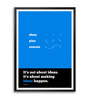 Lab No.4 - The Quotography Department Paper & PU Frame 11.9 x 16.7 Inch Scott Belsky Quote Framed poster