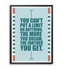 Lab No.4 - The Quotography Department Paper & PU Frame 11.9 x 16.7 Inch Dream Quote Framed poster