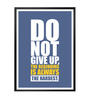 Lab No.4 - The Quotography Department Paper & PU Frame 12 x 1 x 17 Inch Do Not Give Up Gym Quote Framed Poster