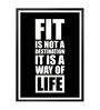 Lab No.4 - The Quotography Department Paper & PU Frame 12 x 1 x 17 Inch Fit Is Not The Destination Gym & Fitness Quote Framed Poster