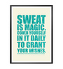 Lab No.4 - The Quotography Department Paper & PU Frame 12 x 1 x 17 Inch Sweat Is Magic Gym Motivational Quote Framed Poster