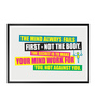 Lab No.4 - The Quotography Department Paper & PU Frame 12 x 1 x 17 Inch The Mind Always Fails First Gym Quote Framed Poster