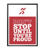 Lab No.4 - The Quotography Department Paper & PU Frame 12 x 1 x 17 Inch You Are Proud Gym Quote Framed Poster