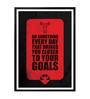 Lab No.4 - The Quotography Department Paper & PU Frame 12 x 1 x 17 Inch You Closer To Your Goals Gym Quote Framed Poster