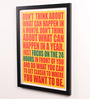 Lab No.4 - The Quotography Department Paper & PU Frame 13 x 0.7 x 17.5 Inch Focus on The 24 Hours Framed Poster
