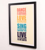 Lab No.4 - The Quotography Department Paper & PU Frame 13 x 0.7 x 17.5 Inch Live Quotes Framed Poster