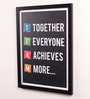 Lab No.4 - The Quotography Department Paper & PU Frame 13 x 0.7 x 17.5 Inch TEAM Motivational Quotes Framed Poster