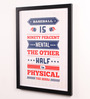Lab No.4 - The Quotography Department Paper & PU Frame 13 x 0.7 x 17.5 Inch Yogi Berra Baseball Player Quotes Framed Poster