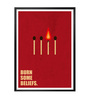 Lab No.4 - The Quotography Department Paper & PU Frame 13 x 1 x 17.5 Inch Burn Some Beliefs Business Quote Framed Poster