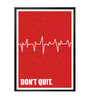 Lab No.4 - The Quotography Department Paper & PU Frame 13 x 1 x 17.5 Inch Don't Quit Corporate Start Up Quote Framed Poster