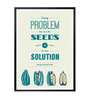 Lab No.4 - The Quotography Department Paper & PU 13 x 1 x 17.5 Inch Every Problem Has In It The Seeds Stanley Arnold Life Motivating Words Poster
