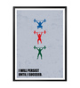 Lab No.4 - The Quotography Department Paper & PU Frame 13 x 1 x 17.5 Inch I Will Persist Until I Succeed Business Quote Framed Poster