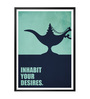 Lab No.4 - The Quotography Department Paper & PU Frame 13 x 1 x 17.5 Inch Inhabit Your Desires Business Quote Framed Poster