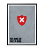 Lab No.4 - The Quotography Department Paper & PU Frame 13 x 1 x 17.5 Inch It's Time To Take A Risk Business Quote Framed Poster