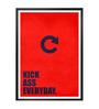 Lab No.4 - The Quotography Department Paper & PU Frame 13 x 1 x 17.5 Inch Kick Ass Everyday Business Quote Framed Poster