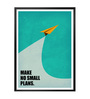Lab No.4 - The Quotography Department Paper & PU Frame 13 x 1 x 17.5 Inch Make No Small Plans Business Quote Framed Poster