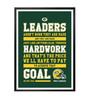 Lab No.4 - The Quotography Department Paper & PU 13 x 1 x 17.5 Inch Sports Inspirational Vince Lombardi American Football Player Quote Framed Poster