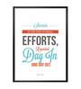 Lab No.4 - The Quotography Department Paper & PU Frame 13 x 1 x 17.5 Inch Success Is The Sum Of Small Efforts Inspire Success Quote Framed Poster