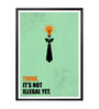 Lab No.4 - The Quotography Department Paper & PU Frame 13 x 1 x 17.5 Inch Think Not Illegal Yet Business Quote Framed Poster