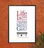 Lab No.4 - The Quotography Department Paper 12.6 x 17.3 Inch Forrest Gump Inspirational Movies Quotes Framed Poster