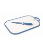 Lacuzini Blue Chopping Board With Matching Non- Stick Colour Coated Stainless Steel Knife