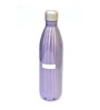 Lacuzini Purple Stainless Steel With Narrow Neck And Silver Lid 500 ML Bottle