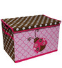 Ladybugs Pink & Chocolate Storage Toy Chest by Bacati