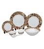 Lakline Multicolour Porcelain 33-piece Dinner Set