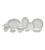 Lakline White Porcelain 95-piece Dinner Set