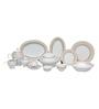 Lakline White and Beige Porcelain 95-piece Dinner Set