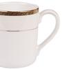 Lakline White and Golden Porcelain Mug - Set of 2